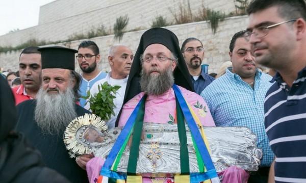 Вынос образа Пресвятой Богородицы из Гефсиманской часовни. Фото: orthodox-jerusalem.ru