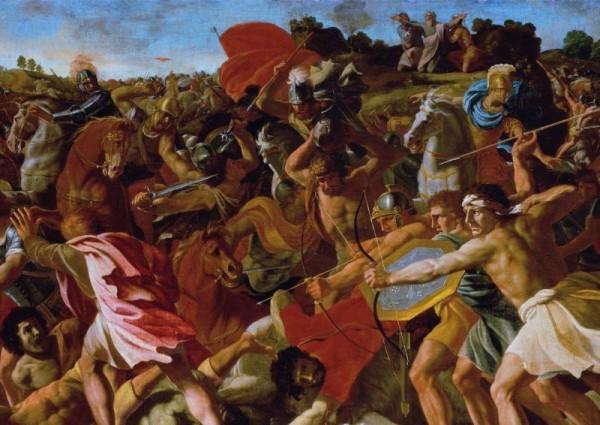 Никола Пуссен. Битва израильтян с амалекитянами