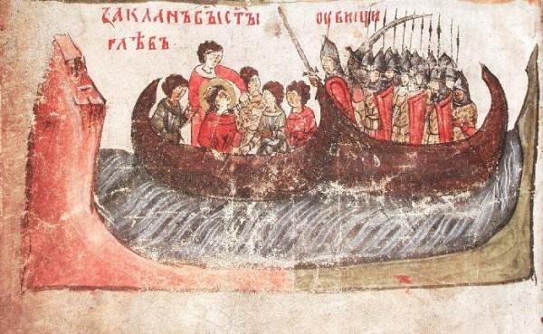 Убиение святого Глеба. Сильвестровский сборник