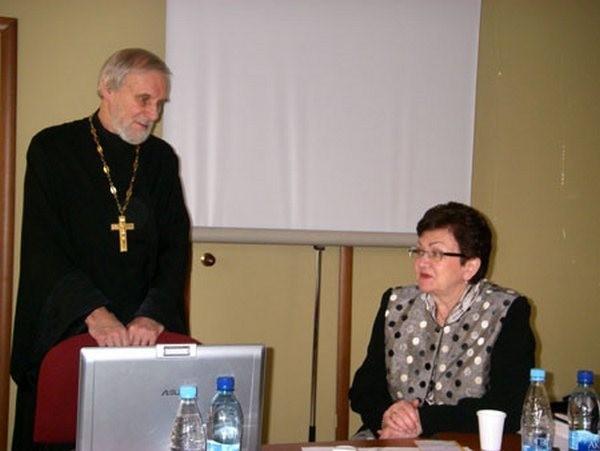 Протоиерей Александр Борисов и Екатерина Гениева