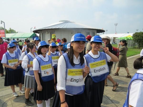 Японские волонтеры английского языка