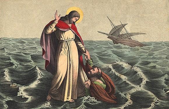 Мы можем идти по волнам житейского моря, лишь глядя на Христа