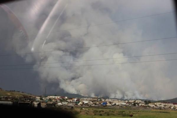 В Бурятии молятся о прекращении пожаров