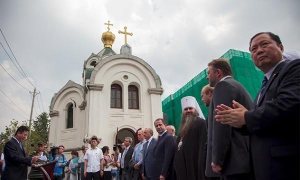 Дом российско-китайских культурных обменов открыли при отреставрированном Александро-Невском храме в Китае