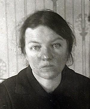 Анастасия Золотурина. Тюремное фото, 1933 г.