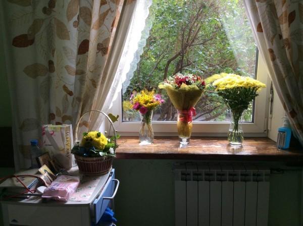 цветы, которые 1 сентября передали в Первый московский хоспис