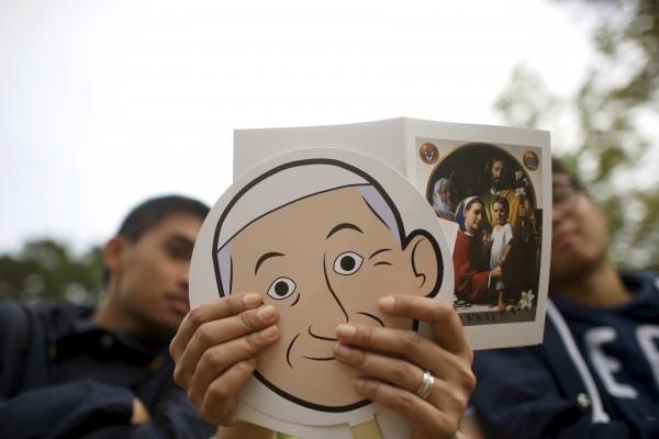 Американские паломники в ожидании визита Папы. 27 сентября 2015 года. Фото: Mark Makela / Reuters