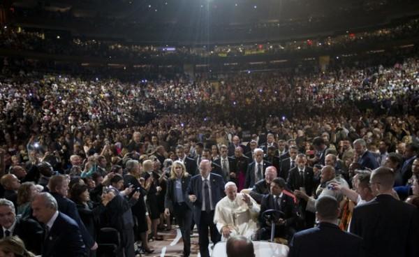 Папа в Madison Square Garden. Фото: Alessandra Tarantino / AP