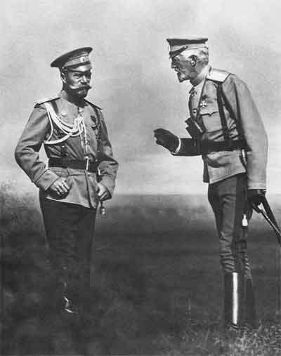 Император Николай II и великий князь Николай Николаевич