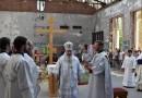 Архиепископ Владикавказский Зосима совершил литургию в школьном зале в Беслане
