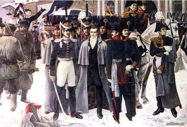 Декабристы на Сенатской площади. 26 декабря 1825 года