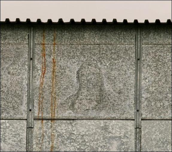 «Христос» на стене цеха