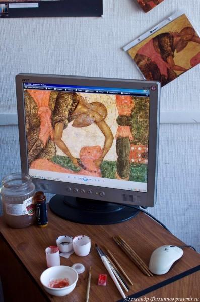 Иконописцы используют новые технологии. Фото: Александр Филиппов
