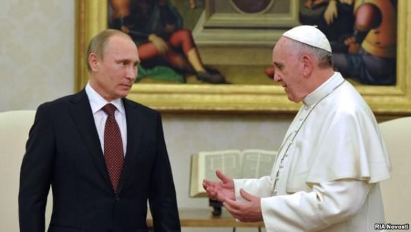 Кремль заявляет об отсутствии в графике Путина встречи с Папой Римским