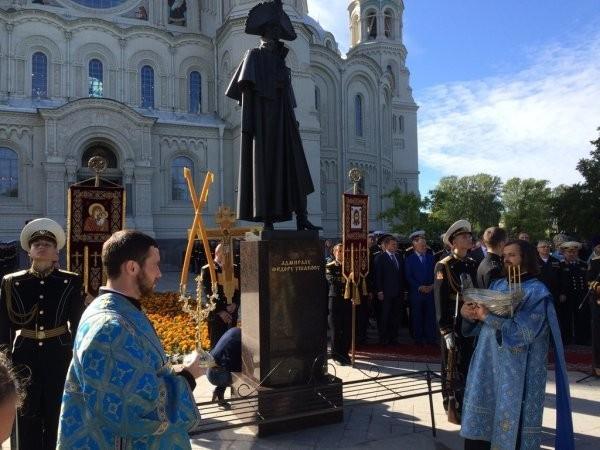 Памятник святому Федору Ушакову открыт в Кронштадте