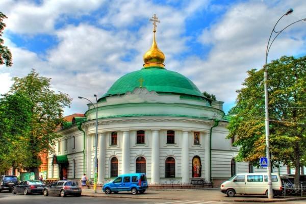 Введенский монастарь в Киеве, в котором хранится икона