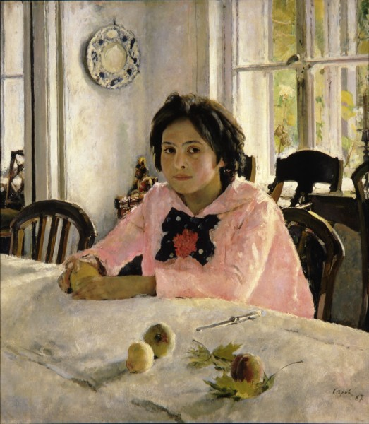 Девочка с персиками. 1887. Холст, масло. 91 × 85. Третьяковская галерея