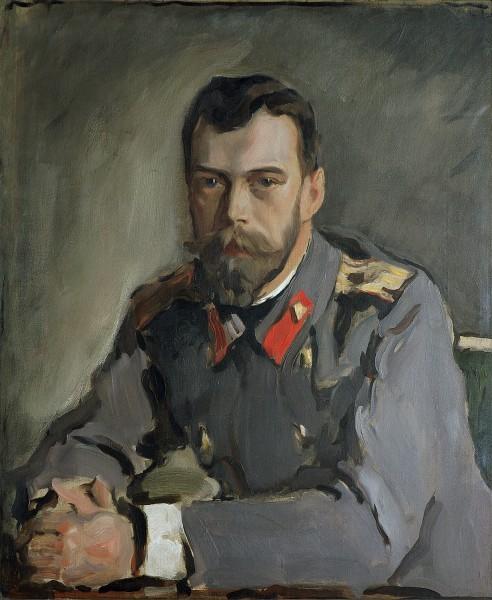 10.Портрет императора Николая II. 1900. Холст, масло. 71,2 × 59,2. Третьяковская галерея