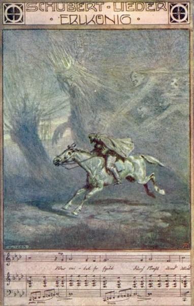 Шуберт. «Лесной царь». Старинная открытка