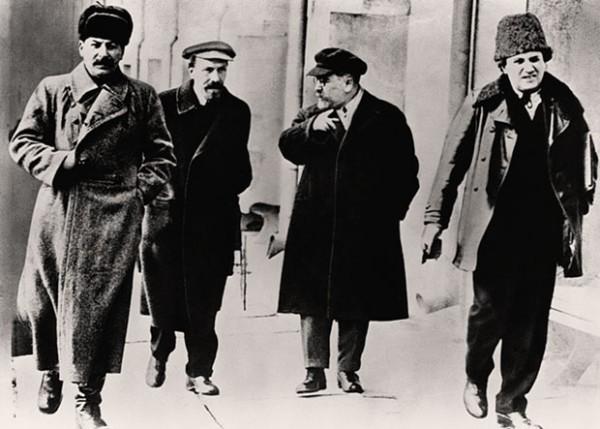 Сталин, Рыков, Каменев, Зиновьев 1924 г