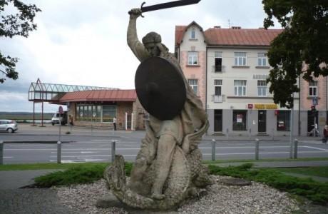 Лачплесис-1953-Юрмала-скулптор Л. Кристовский