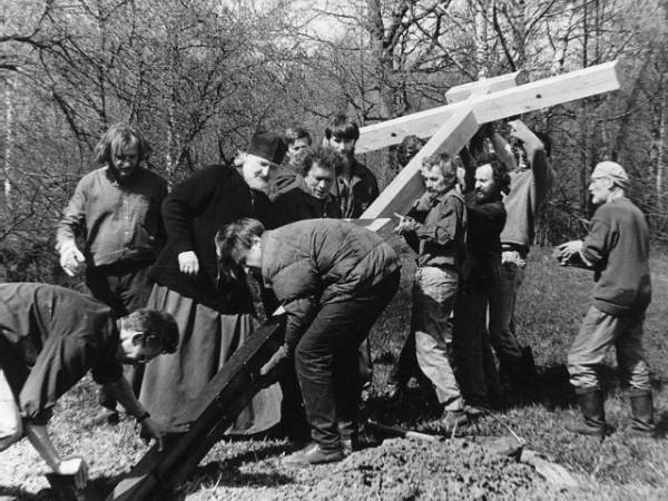 Установка в Бутово первого поминального креста