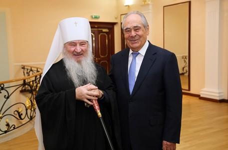 Митрополит Феофан обсудил возрождение Казанской академии с Минтимером Шаймиевым