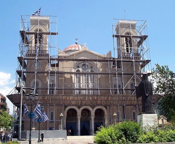 В Афинах завершается капитальный ремонт кафедрального собора