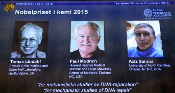 Нобелевская премия по химии присуждена за исследование репарации ДНК