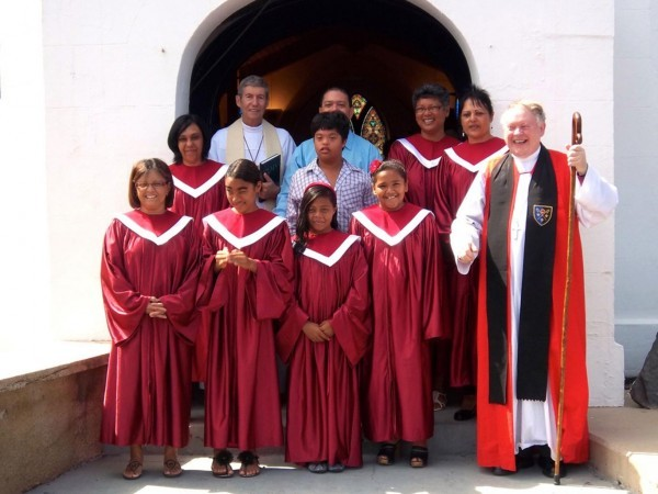 Епископ Ричард Фенвик с певчими