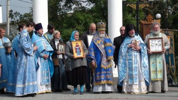 Последнее совместное богослужение с о.Никоном в день престольного праздника. 14 октября 2015 года. Фото: Владимир Кашлюк/ Вконтакте