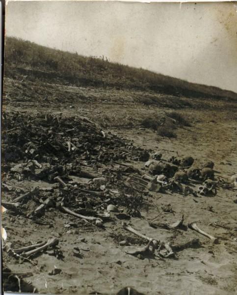 Берег реки Обь в мае 1979 года после размыва захоронения. Фото из архива семьи Гомелля.