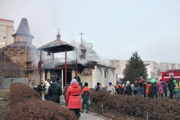 В Сумах сгорела воскресная школа