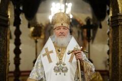 В день своего рождения Патриарх Кирилл совершил Литургию в домовом храме Патриаршей резиденции