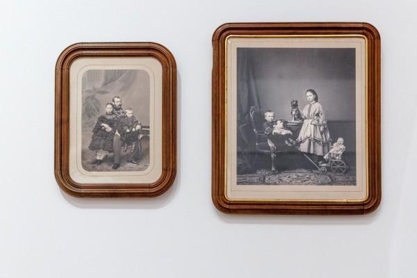 2.Портрет императора Александра II с сыном и дочерью. Фотография Деньер Г.А./Великий князь Сергей Александрович и великая княжна Мария Александровна, фотография Робийяр.
