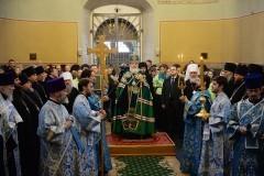 Патриарх Кирилл совершил молебен у мощей святителя Тихона в годовщину его интронизации