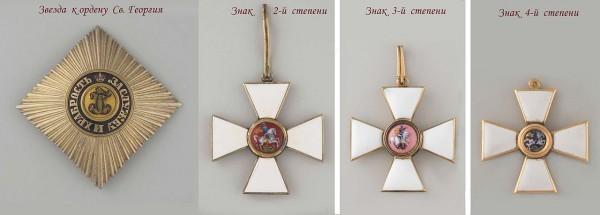 Звезда и знаки к ордену Св. Георгия