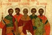 Церковь чтит память мучеников Евстратия, Авксентия, Евгения, Мардария и Ореста