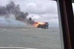 При пожаре на нефтеплатформе в Каспийском море погибли 32 человека