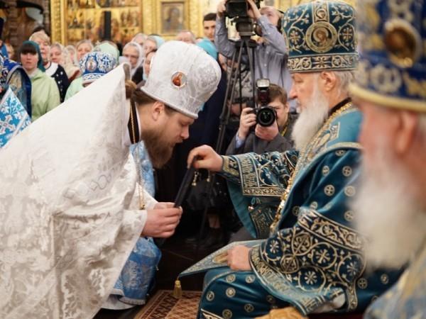 Хиротония архимандрита Серафима (Савостьянова) во епископа Тарусского