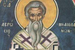 Церковь чтит память святителя Амвросия Медиоланского