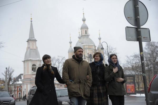 Сергей Ефременко с женой и дочерьми