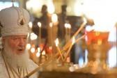 Патриарх Кирилл совершил Литургию и чин великого освящения воды