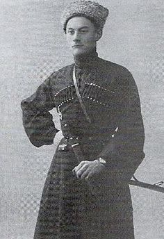 Яссе Андроников (Андроникашвили) в мундире дикой дивизии