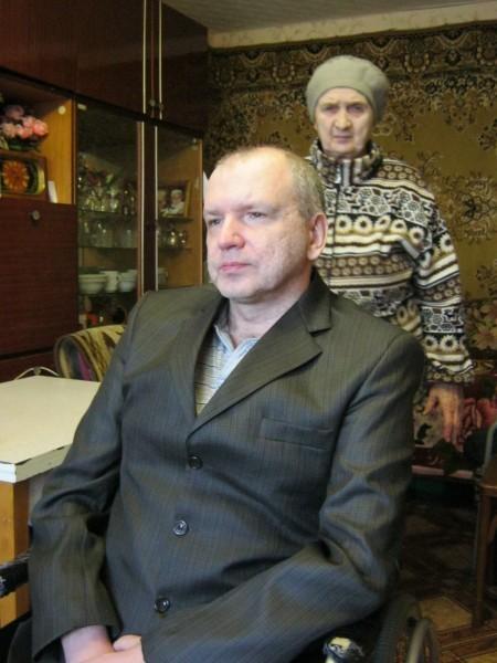Сергей Шаполов с мамой Анной Терентьевной