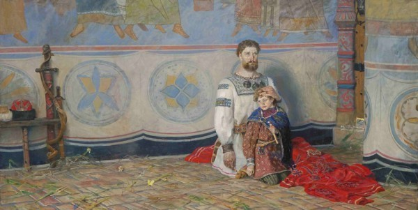 Великокняжеский меч. 2005 г. Холст, масло.