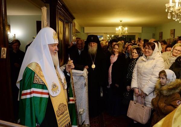 Патриарх Кирилл совершил молебен в Женеве, где начинал церковное служение
