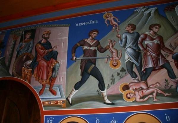 Роспись монастыря Симона Петра на Афоне