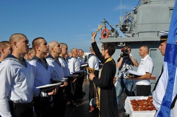 Священник Кирилл Вовк: На ракетном крейсере ты не чувствуешь себя на войне
