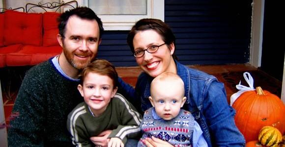Род Дриер с семьей